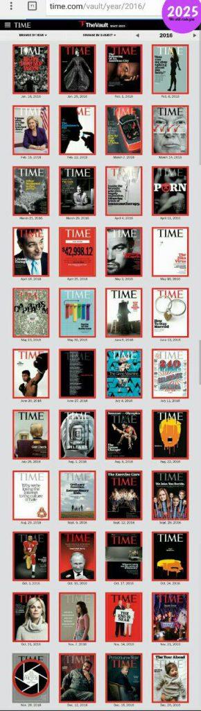 مجله تایم 2016