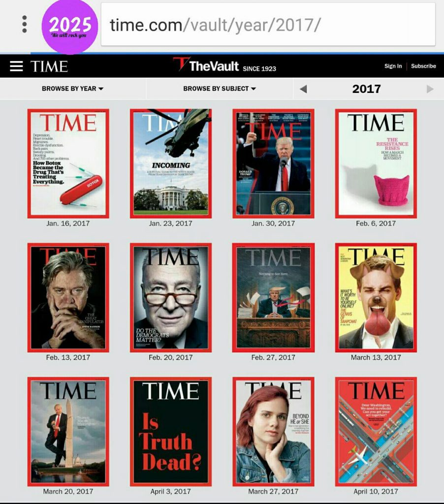 مجله تایم 2017